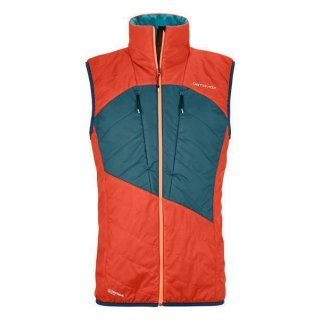 ORTOVOX SWISSWOOL LIGHT PURE DUFOUR VEST M CRAZY ORANGE LARGE