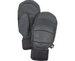 HESTRA LEATHER FALL LINE MITT GREY