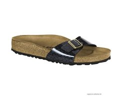 BIRKENSTOCK UNISEX MADRID BS NARROW FIT MAGIC SNAKE BLACK