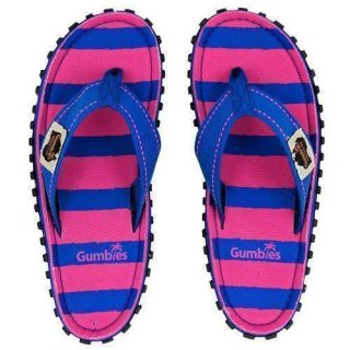 GUMBIES DAMEN ISLANDER PINK & BLUE STRIPES
