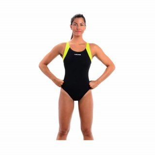 HEAD BADEANZUG LADY AQUAFIT TOG BLACK/LIME