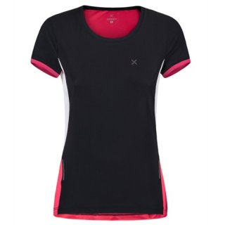 MONTURA RUN MIX T-SHIRT WOMAN NERO/ROSA SUGAR
