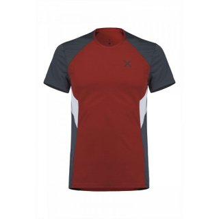 MONTURA OUTDOOR PERFORM SHIRT MEN ROSSO/PIOMBO S