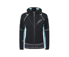 MONTURA JACKET RUN FLASH WOMAN NERO/ICEBLUE